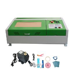 40w Co2 Laser Gravure Machine 300x200mm Cutter Wood Working + 4 Roues