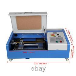 40w Co2 Laser Gravure Machine De Coupe Graveur Usb Cutter 300x200mm