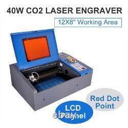 40w Co2 Lasergraver Graveur Coupeur Coupeur Machine LCD 30x20cm Pointeur Pointeur À Points