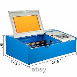 40w Co2 Usb Graveur Laser Graveur Coupeur Machine À Découper 300x200mm Ce