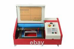 40w Co2 Usb Machine De Gravure Et De Découpe Laser + 4rads