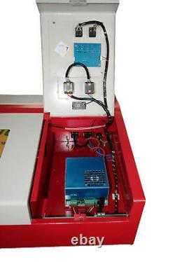 40w Co2 Usb Port Laser Gravure Et Coupe Machine Imprimante Laser + 4rads