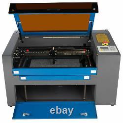 50w Co2 Laser Graveur Coupeur Coupeur Machine 30x50cm Avec Axe Rotatif