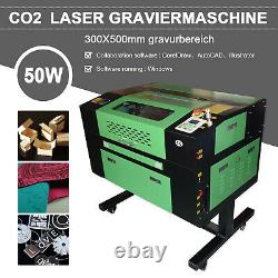 50w Co2 Usb Gravure Laser Graveur Machine 300x500mm Cutter Imprimante