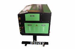 50w Co2 Usb Gravure Laser Machine Graveur Cutter 500x300mm + 4 Roues