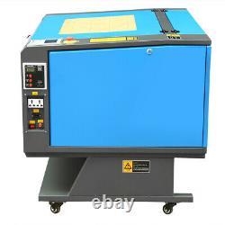 60w Co2 Co2 Gravure Laser Gravure De Gravure 700x500mm Coupe-cutter Cutter Avec 4 Roues