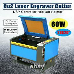 60w Co2 Usb Graveur Laser Cutter 700x500mm Gravure Imprimante De Coupe + 4 Roues