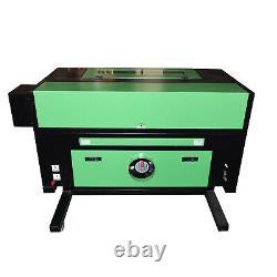 60w Co2 Usb Gravure Laser Machine De Découpe Graveur Cutter 400x600mm + 4 Roues