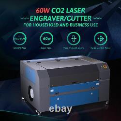700500mm 60w Co2 Graveur Laser Gravure Machine À Découper Avec Lightburn Software
