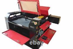 80w Co2 7050 Laser Gravure Tailleur Coupeur Cutter 700 X 500mm Lit