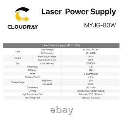 80w D'alimentation Laser Co2 Psu Pour Machine De Gravure De Tubes Laser Co2