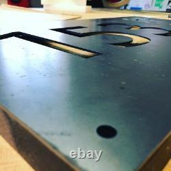 Boîte Aux Lettres Maison Enseigne Ferme Plaque Corten Rusted Steel Laser Cut 500mm X 250mm