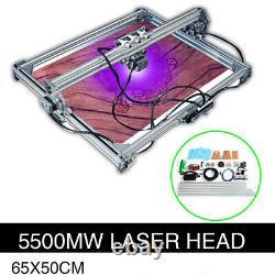 Cnc Laser Engraver Cutter Metal Marking Wood Cutting Machine 5500mw 65x50 Bricolage