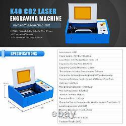 Crenex 40w Co2 Laser Graveur Machine De Gravure 30×20cm Machine De Découpe New