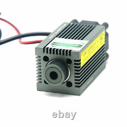 Focusable 520nm 1w 1000mw Dot Green Laser Diode Module Gravure Et Coupe Ttl