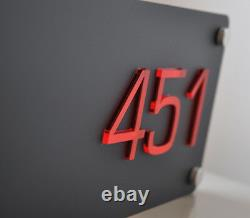 Illuminated Led House Sign Plaque Laser Cut Boîte À Lumière Personnalisée