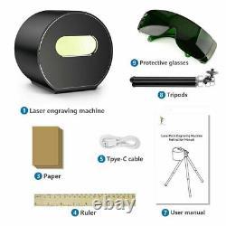 Mini Bluetooth Lasergraving Cutting Machine Graveur Imprimante Desktop Tripod