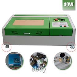 Mise À Jour 40w Co2 Usb Laser Gravure Machine Cutter Wood Working+4 Roue