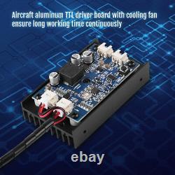 Module De Gravure De Tête Laser 15w Avec Outil De Découpe De Marquage Blu-ray Ttl 450nm