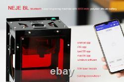 Neje Bl 10w Smart Cnc Metal Laser Gravure Découpe Machine Carver Graveur Diy
