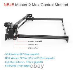 Neje Master 2s Max 30w Graveur De Machine À Découper Au Laser Imprimante En Cuir De Bois Carve
