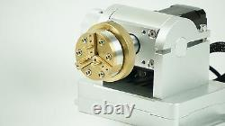Nouveau Mini Rotary 4axis Allumé Laser Laser Marking/graving/ Cutting System