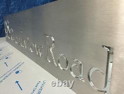 Panneau De Maison Laser Cut Acier Inoxydable Boîte À Lettres Architectural Sur Mesure