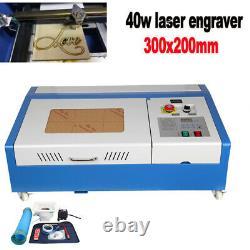 Ridgeyard 40w 300200mm Co2 Laser Gravure Machine De Coupe Graveur Usb Cutter