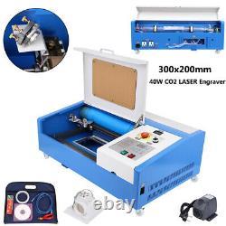 Ridgeyard 40w Co2 Laser Gravure Machine À Découper Usb 300x200mm Graveur Cutter