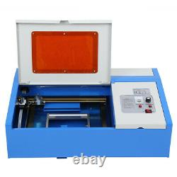 Ridgeyard 40w Co2 Usb Graveur Laser Graveur Coupeur Machine À Découper 300x200mm