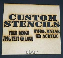 Service Personnalisé De Découpe Laser Gravure Bois Acrylique Miroir Stencil