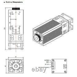 Tête Laser Du Module Laser 40w Utilisée Pour La Gravure Au Laser Et La Machine De Découpe Au Laser